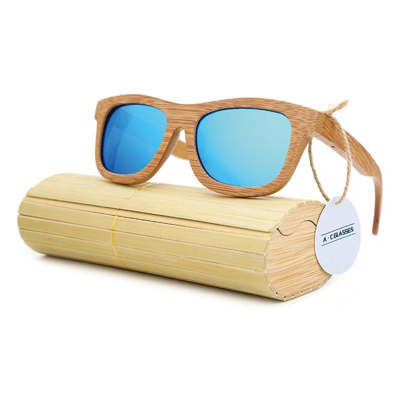 Handmade Wooden Sunglasses - Bamboo - Retro Vintage