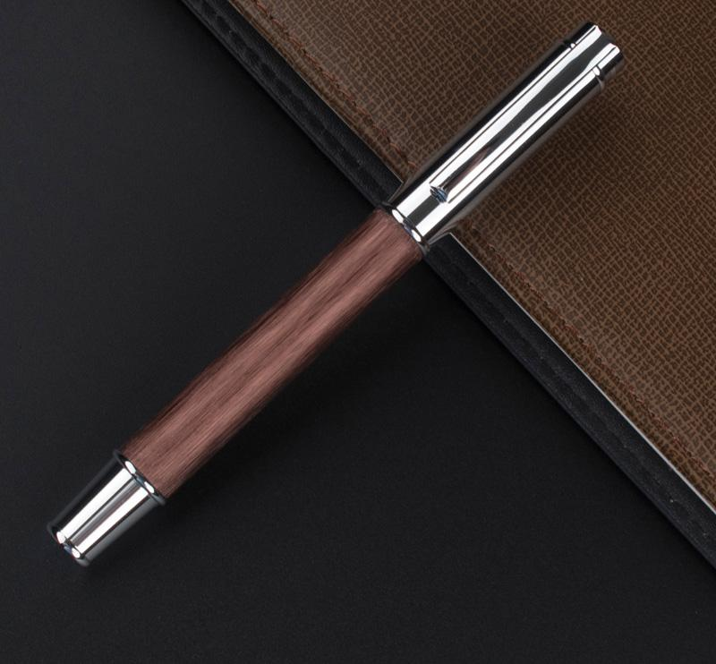 Roller Ball Writing Pen Coffee Wood - Vintage