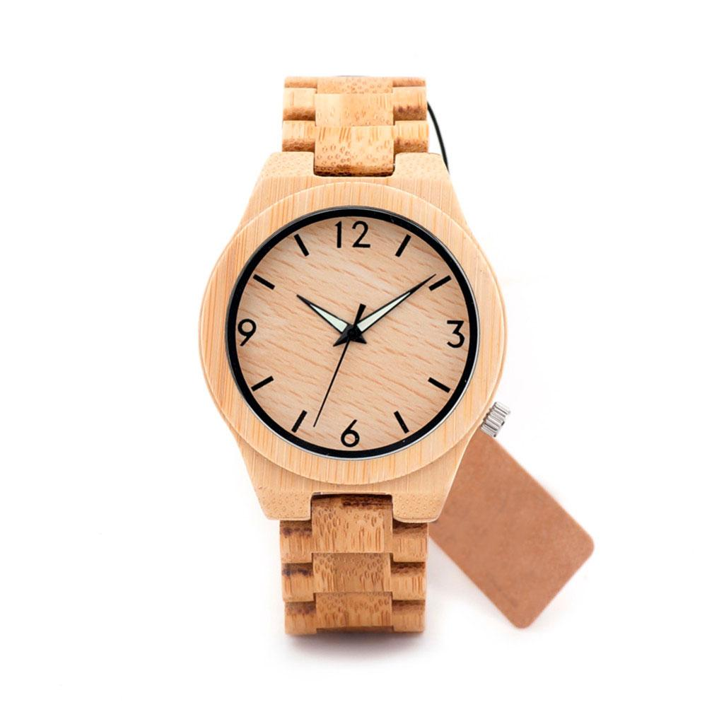Men's Bamboo Wooden Watch With Bamboo Band