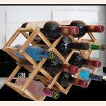 10-Bottles Wooden Folding Wine Rack
