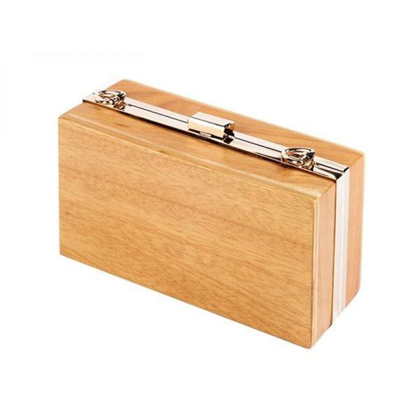 Wooden Hand Bag / Purse with Chain - Various styles