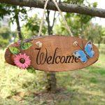 Welcome Sign on a Tree Log Wall Hanging