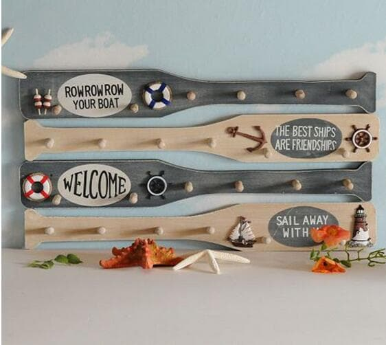 Wooden Oar Coat Hanger
