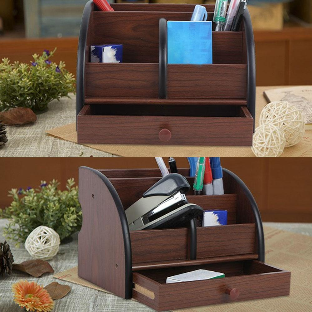 Desk Organizer Multi-functional - Brown/Black