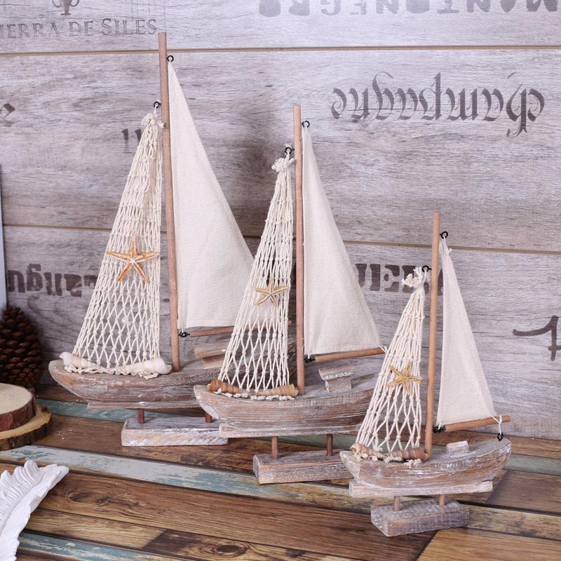 Retro Wooden Sailing Ship - Rural Style